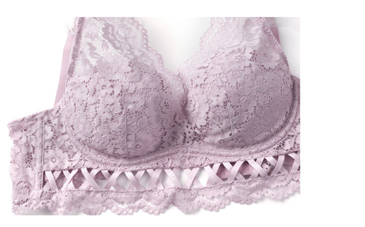 CINOON New Top High Quality Bra Set Gather Bras Deep V Brassiere Women Lingerie Set Lace Embroidery Push up Bra Panties Sets (13)