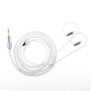 Image 2 - Nieuwste Trn T3 8 Core Zilver Kabel Upgrade Oortelefoon Kabel 3.5/2.5Mm Mmcx/2Pin Connector Voor Trn v90 BA5 ST1 V80 T3 P1 T4 Zsx C12