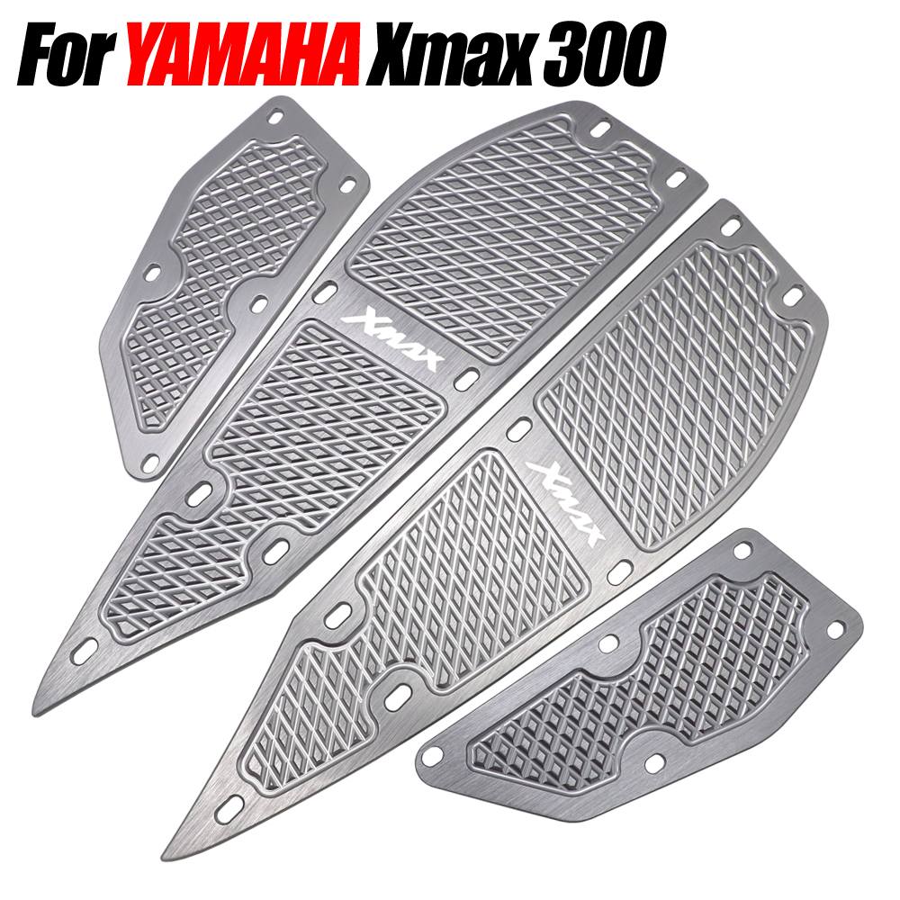 Modified Footrest Step Pad Pedal Plates for Yamaha X-MAX 250//300//400 2017-2019