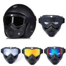 Masculino feminino modular esqui snowboard máscara snowmobile óculos de proteção à prova de vento motocross óculos de segurança com filtro de boca