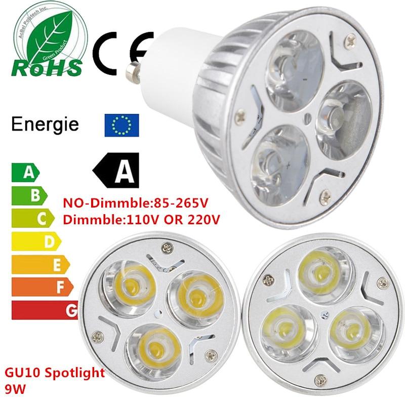 1PCS New Dimmable LED GU10 9W EPISTAR LED 110V 220V Warm White/ Pure White/Cool White/ Spotlight Lamp Bulb LIGHTING