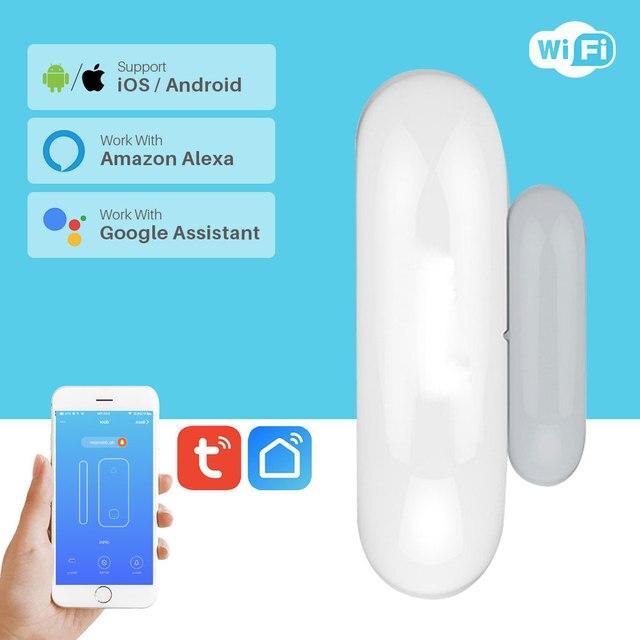Akıllı pencere kapı alarmı WiFi kapı pencere sensörü akıllı ev güvenlik Tuya APP kontrolü uyumlu Amazon Alexa Google ev IFTTT