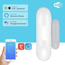 חכם חלון דלת מעורר WiFi דלת חלון חיישן חכם אבטחת בית Tuya APP בקרת תואם אמזון Alexa Google בית IFTTT