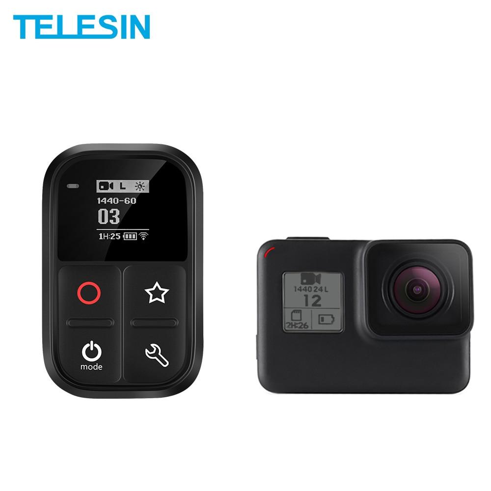 TELESIN télécommande Wifi étanche écran OLED auto-lumineux avec Set et touche de raccourci pour GoPro Hero 7 6 5 3 3 + 4 Session