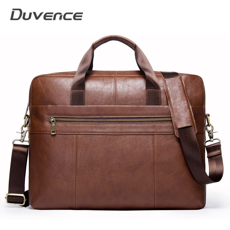 Vintage Man Handbags Waterproof Men's Briefcases Genuine Leather Travel Shoulder Bags For Man Crossbody Large Business Briefcase