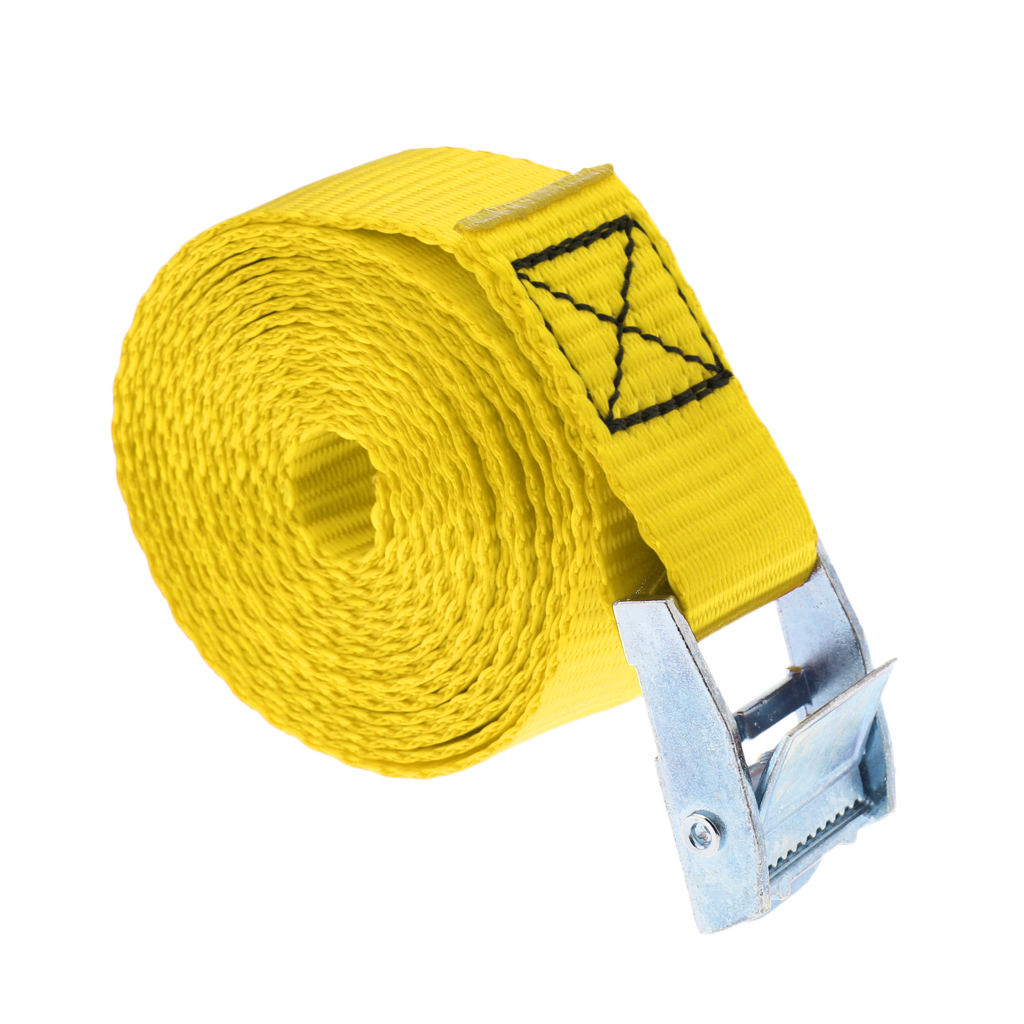 25mm X 2.5m Tie Down Strap Lashing Strap Cargo Roof Rack Tie-down Strap With Metal Cam Buckle For Kayak, Canoe, Surfboard