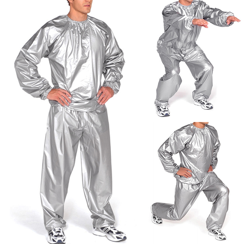 L/XL2XL/3XL/4XL/5XL Heavy Duty Sauna Sweat Suit Exercise Gym Suit Fitness Weight Loss Anti-Rip Slimming Product P9