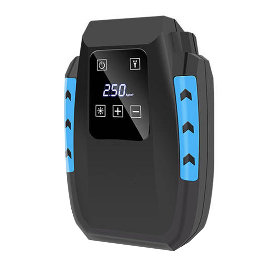 Touch Screen Tyre Inflator Digital Air Compressor Tyre Pump With Larger Air Flow Nozzle Adaptors Bright Led Light Display