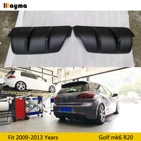 Golf 6 FRP Primer Rear Bumper Splitter Aprons Body kit For Volkswagen VW Golf MK6 R20 2009 2013 only fit R20 bumper