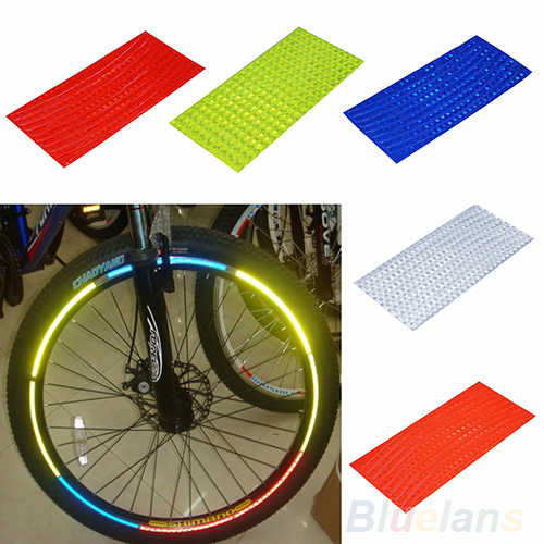 Reflective Stickers Motorcycle Bicycle Reflectors Security Wheel Rim Decal TapJB
