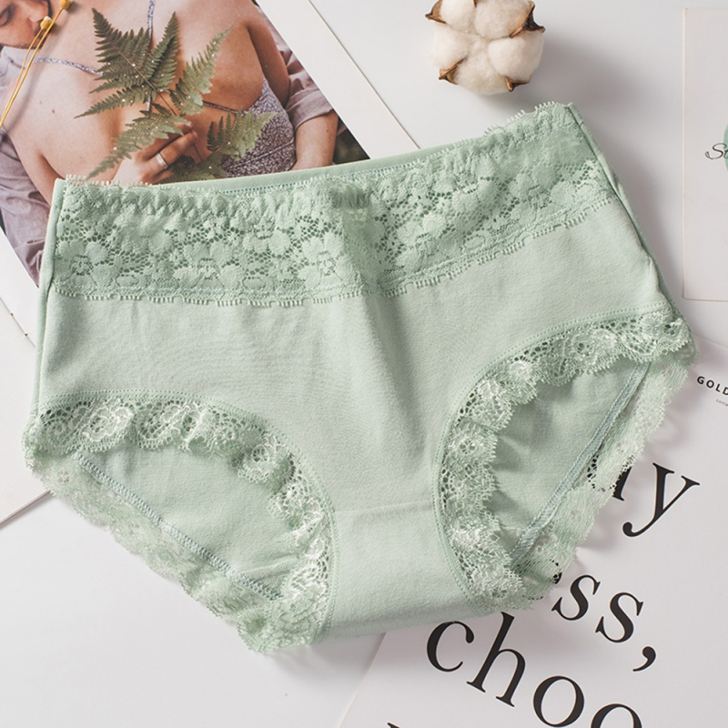 New Women Panties Sexy High-Waist Airy Ladies Cotton Briefs Lingerie Lace Girl Large Size Panties Underwear