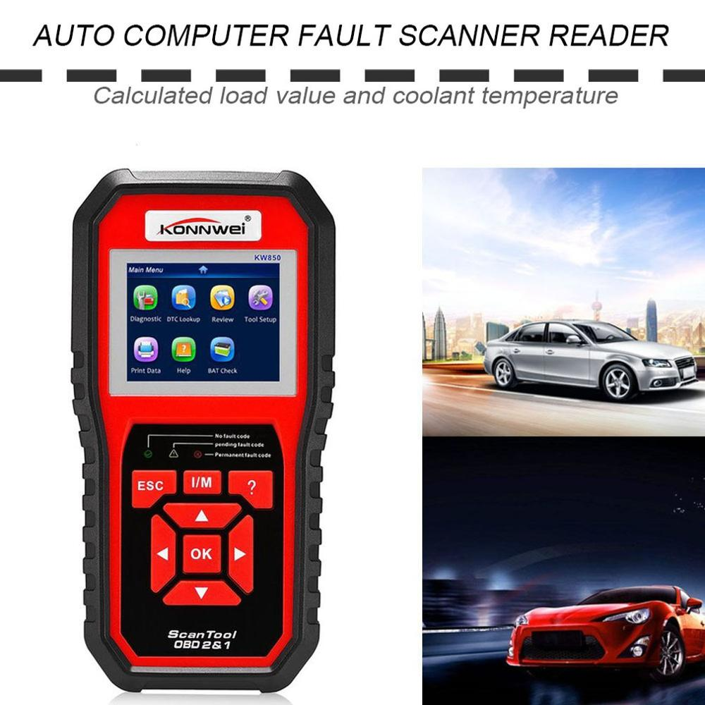 KONNWEI KW850 OBDII EOBD Auto Car Diagnostic Scanner Code Reader Car Vehicle Scanning Tool Support 8 Languages