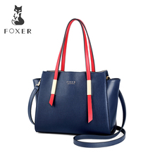 FOXER Brand New Design Female Occident Style Tote Women High Quality Shoulder Bags Lady Fashion Trapeze Handbags & Crossbody Bag