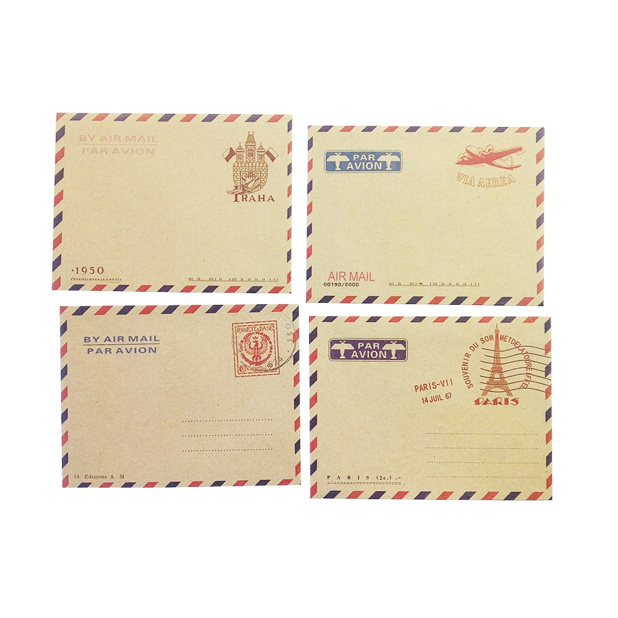 10 Pcs/lot Mini Retro British Style Travel Envelop Kraft Paper Envelopes For Mini Postcard Small Gift Greeting Sobres Invitacion