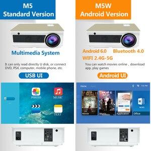Image 3 - Poner Saund M5 LED projektör Full HD 1080P 3D Android 6.0 projektör 4500 lümen projektör HDMI USB WiFi Proyector Bluetooth