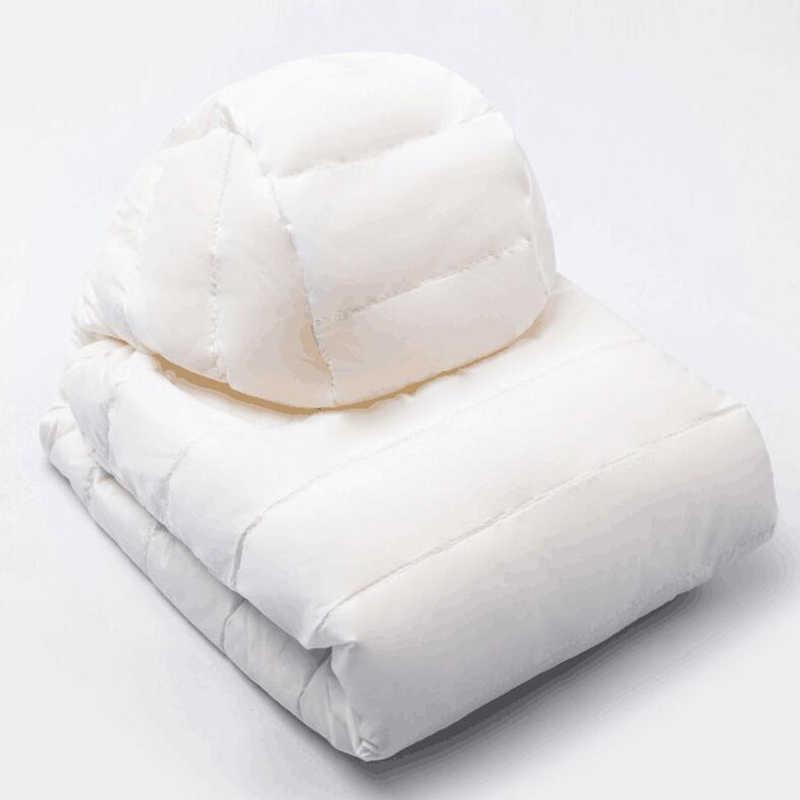 ผู้หญิงฤดูหนาว Ultra Light Down JACKET 90% เป็ดสีขาวลงเสื้อแจ็คเก็ตแขนยาว WARM Coat Parka หญิง Solid แบบพกพา outwear