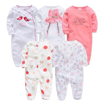 Honeyzone Neonato Toddler Girl Autumn Full Sleeve Footies Infantil Menina Lovely Cartoon Print Jumpsuit Soft Pyjama Bebe Roupas