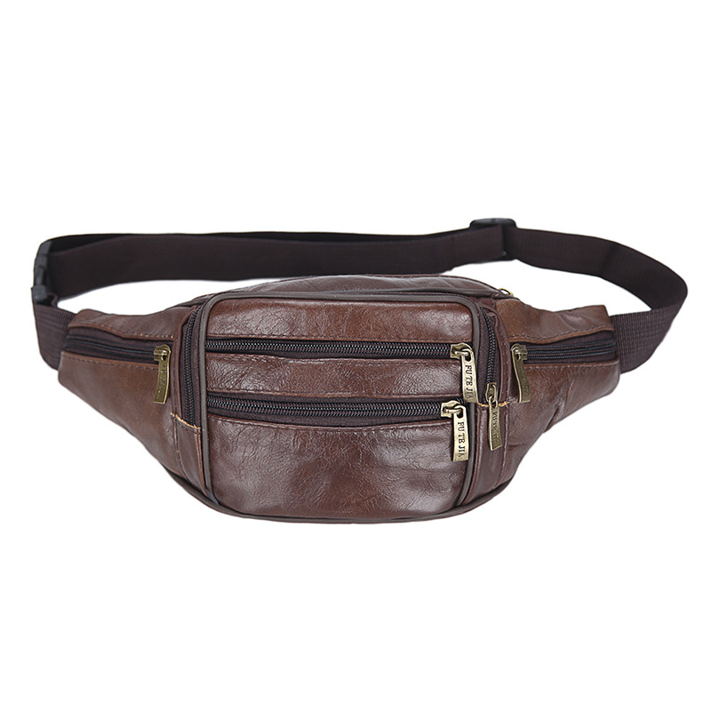 Fanny Pack Genuine Leather Mens Leather Fanny Pack Waist Bags Waist Bag Holographic Waist Purse Banana Bag Belt Pack Leg
