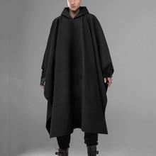 Fashion Men Cloak Coats Hooded Solid Loose 2021 Streetwear Punk Windproof Men's Trench Chic Winter Long Cape Poncho INCERUN