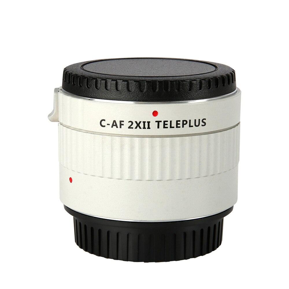 Tüketici Elektroniği'ten Lens Adaptörü'de Toptan C AF 2X II TELEPLUS Teleplus otomatik odaklama Teleconverter 2.0X genişletici telefoto dönüştürücü Canon EOS EF lens 7DII 5D I title=