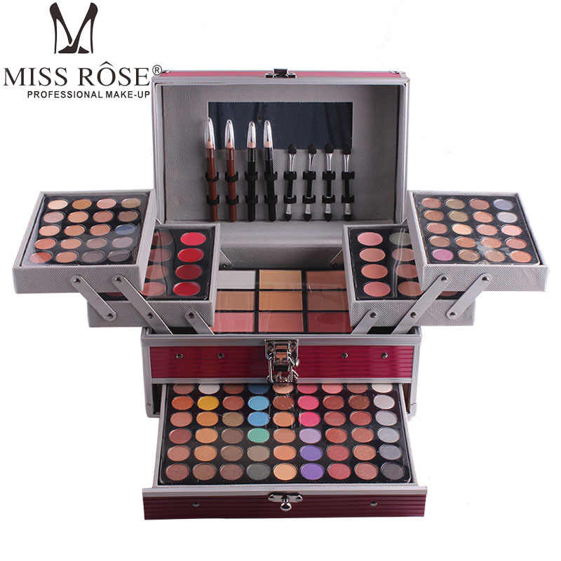 MISS ROSE Professionele Make-Up Palet Sets Combo matte & shimmer oogschaduw Concealer Verhelderende waterdichte foundation make-up kit