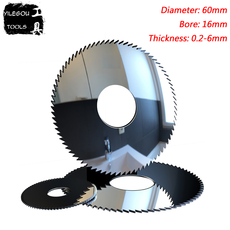 60mm Tungsten Steel Milling Cutter, 60x16mm Solid Carbide Alloy Circular Saw Blades Cutting Stainless Steel. Thickness 0.2-6mm