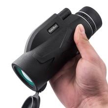 80X100 Zoom High Definition Lens Prism Hiking Monocular Telescope + Phone Clip + Tripod