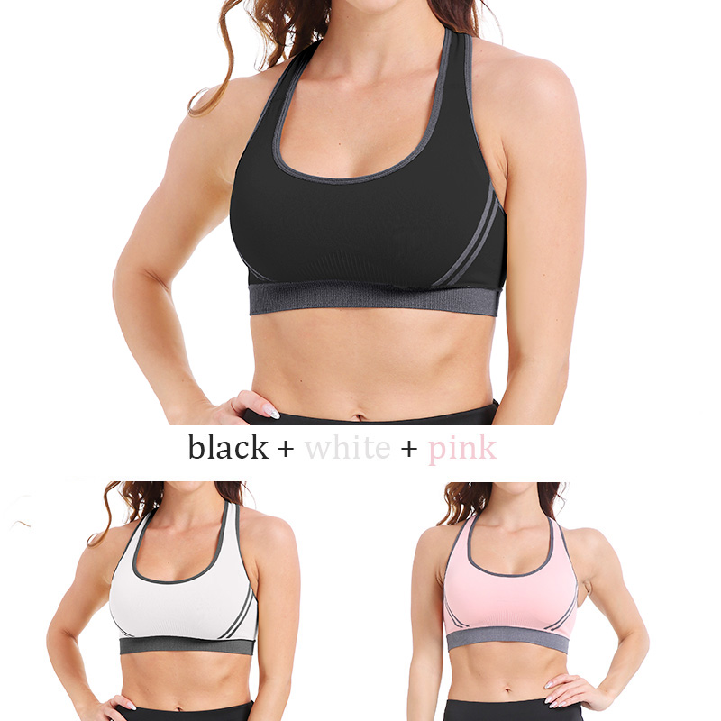 SEXYWG Sexy Yoga Bra Women Sports Top Cross Back Shockpoof Running Gym Shirt Athletic Vest Active Wear Girl Push Up Brassiere BH (6)