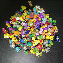 10pcs/lot Original Super zings Zomlings Action Figures Dolls 3CM Superzings Garbage Collection Toys Model Kids Birthday Gift