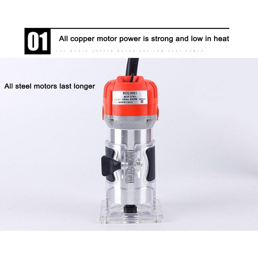 Tondeuse électrique à bois 650W 30000 tr/min gravure sur bois rainurage Machine de découpage à la main sculpture sur bois routeur