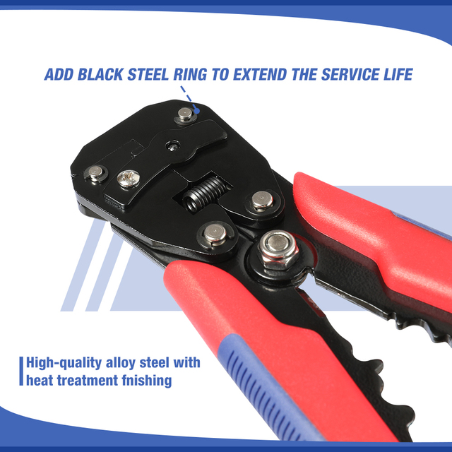 WORKPRO Crimper Cable Cutter Automatic Wire Stripper Multifunctional Stripping Tools Crimping Pliers Terminal 3