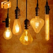 все цены на Retro LED Bulb Lamp E27 220V A60 ST64 G80 G95 G125 T30 Heart Star Christmas Tree Decoration Vintage Edison Bulb Light