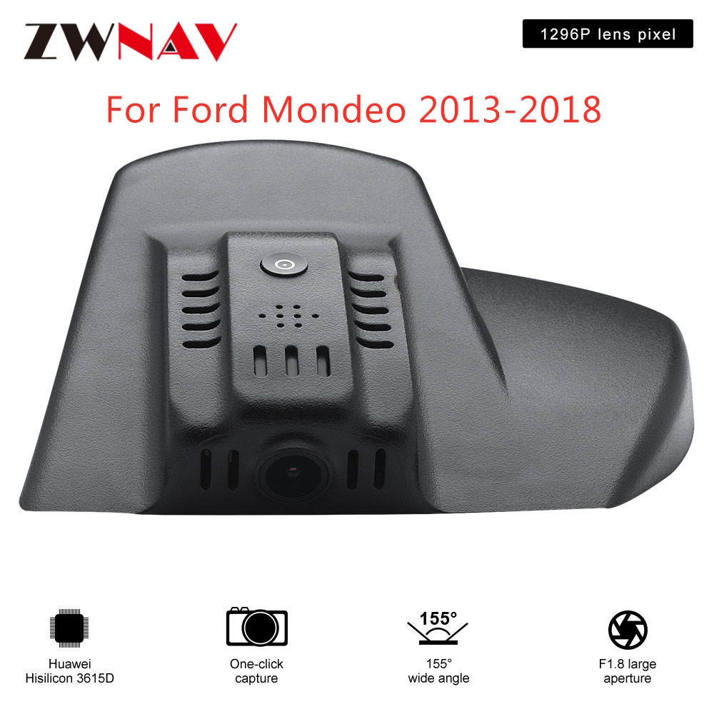 <font><b>Hidden</b></font> Type HD Driving recorder dedicated For <font><b>Ford</b></font> Mondeo 2013-2018 <font><b>DVR</b></font> Dash cam <font><b>Car</b></font> front camera <font><b>WIfi</b></font> image