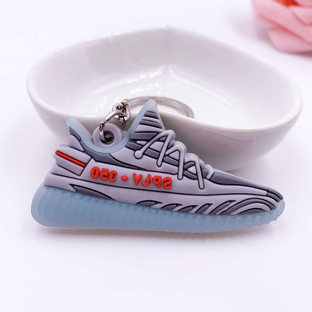 Mini marque de luxe Silicone SPLY-350 V2 chaussures porte-clés femme hommes enfants porte-clés cadeau Porte Clef Sneaker porte-clés