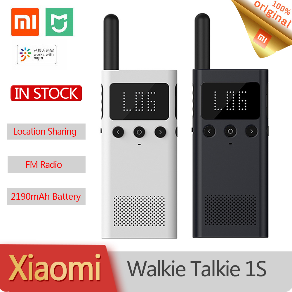 New Original Xiaomi Mijia Smart Walkie Talkie 1S FM Radio Speaker Smart Phone APP Location Share Fast Team Tall Outdoor Sports