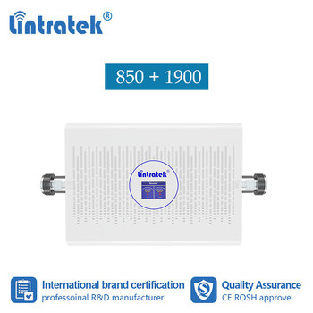 Lintratek 70dB 2G 3G 850 1900 dual band cellular signal booster repeater cellphone Band2 1900 CDMA 850 B5 Amplifier Repetidor #8