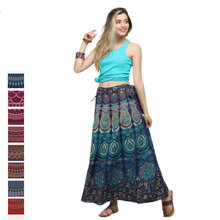 Fashion Bohemian Style Flower Printed Dress Women High Waist Long Skirt Indian Pakistan Clothing Party Femme Sexy African Outfit(China)
