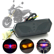 Motorcycle Integrated LED Turn Signal Brake Tail Light For Honda Grom MSX 125 2014-2019 motorcycle brake clutch levers for honda grom msx 125 2014 2015 2016 2017 adjustable folding extendable levers set 125 msx grom