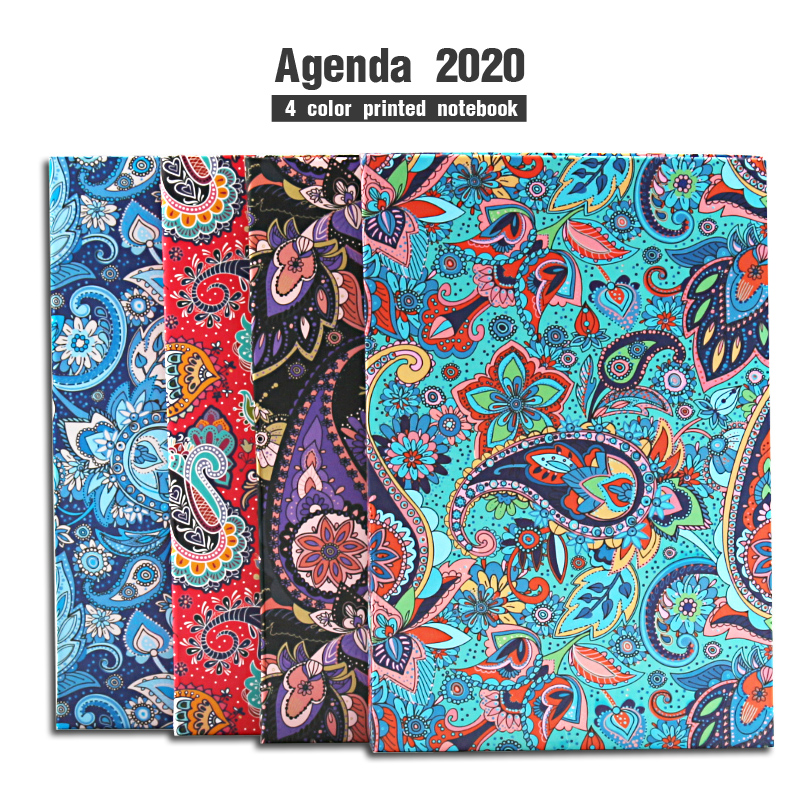 156sheets Flowers Plant Agenda 2020 Weekly Planner Organizer Diary Notebook Bullet Journal School Filofax Student Travelers