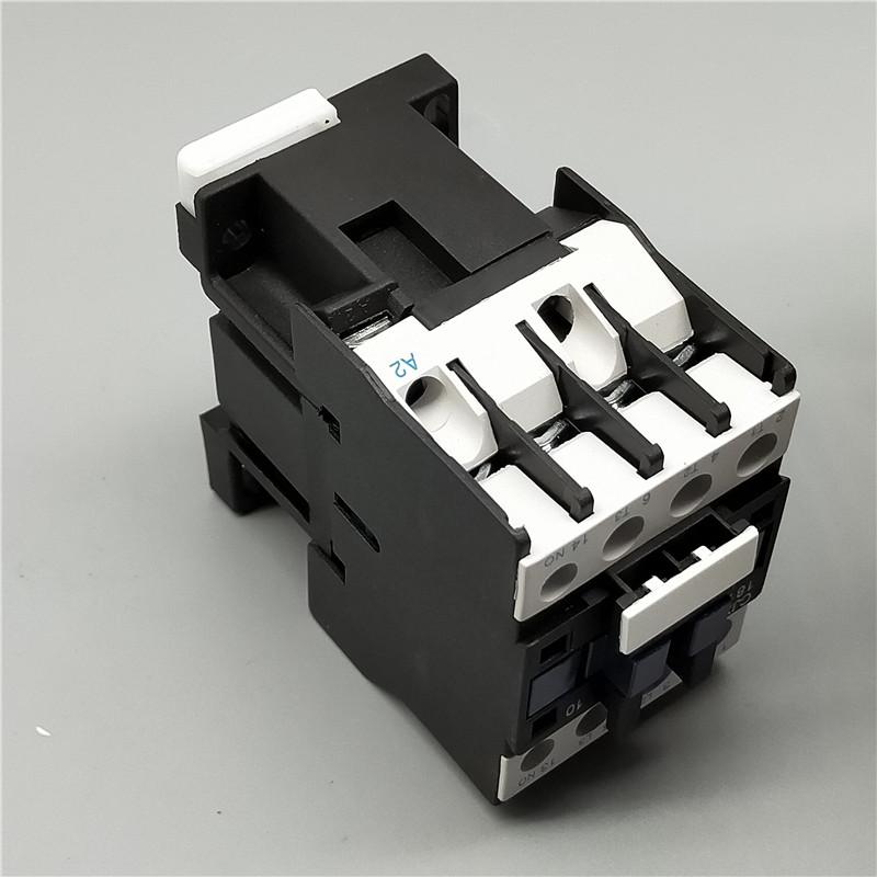 H5fe22b5243be4e0fbada794f7c4d574ax - 1pcs CJX2-1810 LC1 AC Contactor 18A 3 Phase 3-Pole Coil Voltage 380V 220V 110V 36V 24V 50/60Hz Rail Mounted 3P+1NO Normal Open