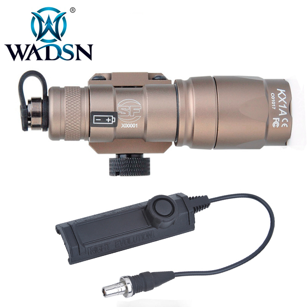 WADSN Softair Scout Light M300A Tactical Flashlight with Dual Function Tape Switch M300 Torches WD04006 Hunting Weapon Lights