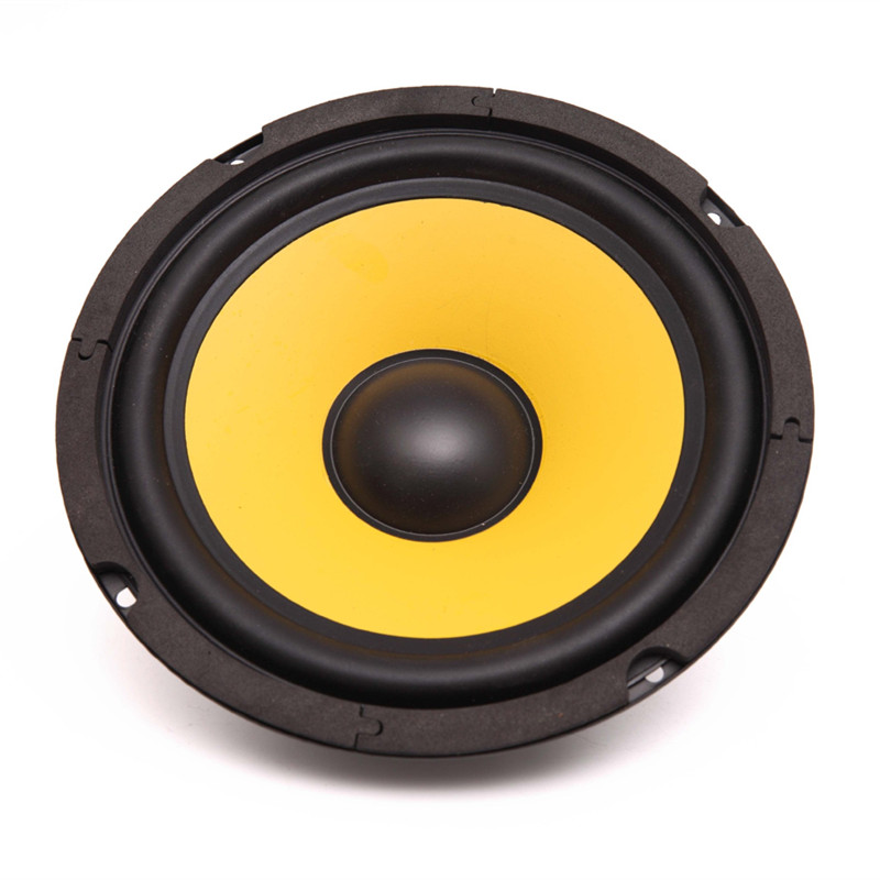 5 Inch Full Frequency 200W 4 Ohm Motorcycle Car Audio Speaker Round Inner Magnetic Bass Piano Horn Subwoofer Yellow