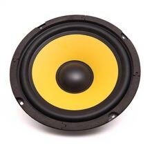 Klaxon de Piano basse pour voiture et moto, 1 pièce, intérieur rond magnétique 6.5 pouces, pleine fréquence 60W 4 Ohm jaune