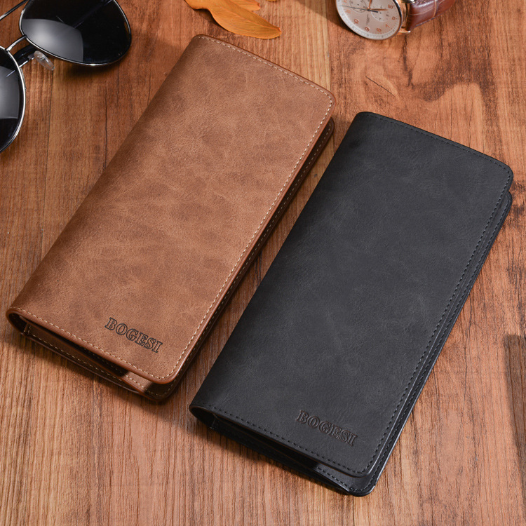 New authentic men's retro PU leather wallet Korean version new frosted leather wallet male youth money bag tide|Wallets|   - title=