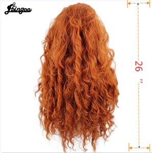 Image 3 - Ebingoo Merida Wig Orange Wig Tinker Bell Princress Belle Ariel Rapunzel Wig Brown Red Blonde Long Synthetic Cosplay Women Wig