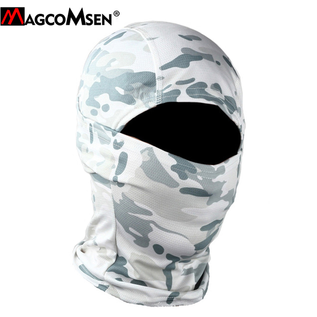 MAGCOMSEN Tactical Camouflage Balaclava Full Face Cover Quick Dry Hunt Shoot Army Bike Helmet Military Equipment  Airsoft Gears