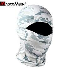 Magcomsen camuflagem tático balaclava completa face cover caça de secagem rápida tiro capacete da bicicleta do exército equipamento militar airsoft engrenagens