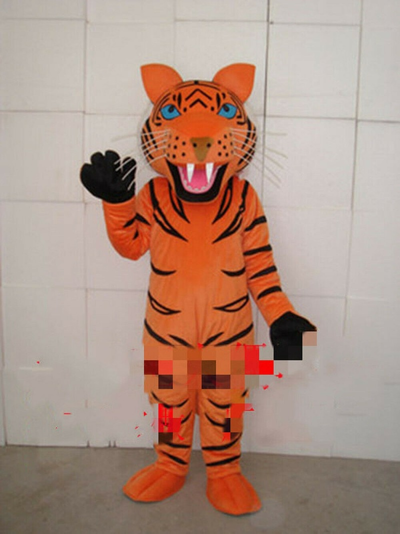 Adult Fursuit Tiger Mascot Costume Cosplay Party Fancy Dress Clothing Halloween Hot Interesting Funny Cartoon Character Clothing
