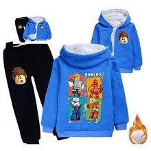 Kinder verdickt Hoodies fleece bär anzug baumwolle dicker mantel kinder kleidung sets winter modelle für jungen mädchen