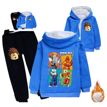 Çocuk kalınlaşmış Hoodies polar ayı takım elbise pamuk kalın ceket çocuk giysileri setleri kış modelleri erkek kız